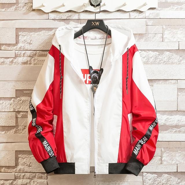 LES KOMAN Spring Autumn New Men Jacket Fashion Printing Casul Streetwear Hooded Splice Sports Coats Outwear S-5XL 4
