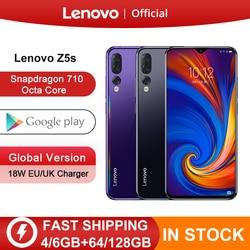Globalna wersja Lenovo Z5s Snapdragon 710 Octa Core 64GB 128GB Smartphone twarz ID 6.3 cala Android P potrójny tylny aparat w Telefony Komórkowe od Telefony komórkowe i telekomunikacja na