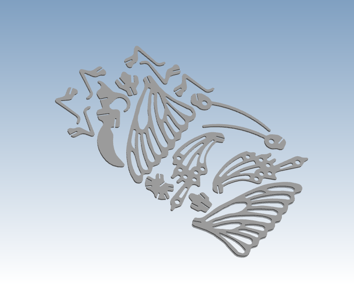 Простая Бабочка 3D печать служба быстрого прототипирования в соответствии с вашим дизайнерским файлом ST118 - 2