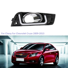 YTCLIN LED DRL Daytime Running Light for Chevrolet Cruze 2009-2013 With Yellow Turn Signal Day Light Switch Car Light Assembly osmrk led drl daytime running light for jeep renegade with yellow turn signal wireless switch control