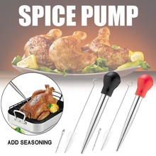 Dropper Pipette Scale-Barbecue-Tool Silicone-Head Oil-Tube Turkey Cleaning-Brush Cooking-Sauce