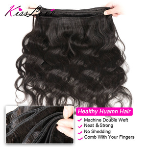 Image 3 - Body Wave Bundles with Frontal Brazilian Hair Weave Bundles with Closure Remy Human Hair Extensions Kiss Love