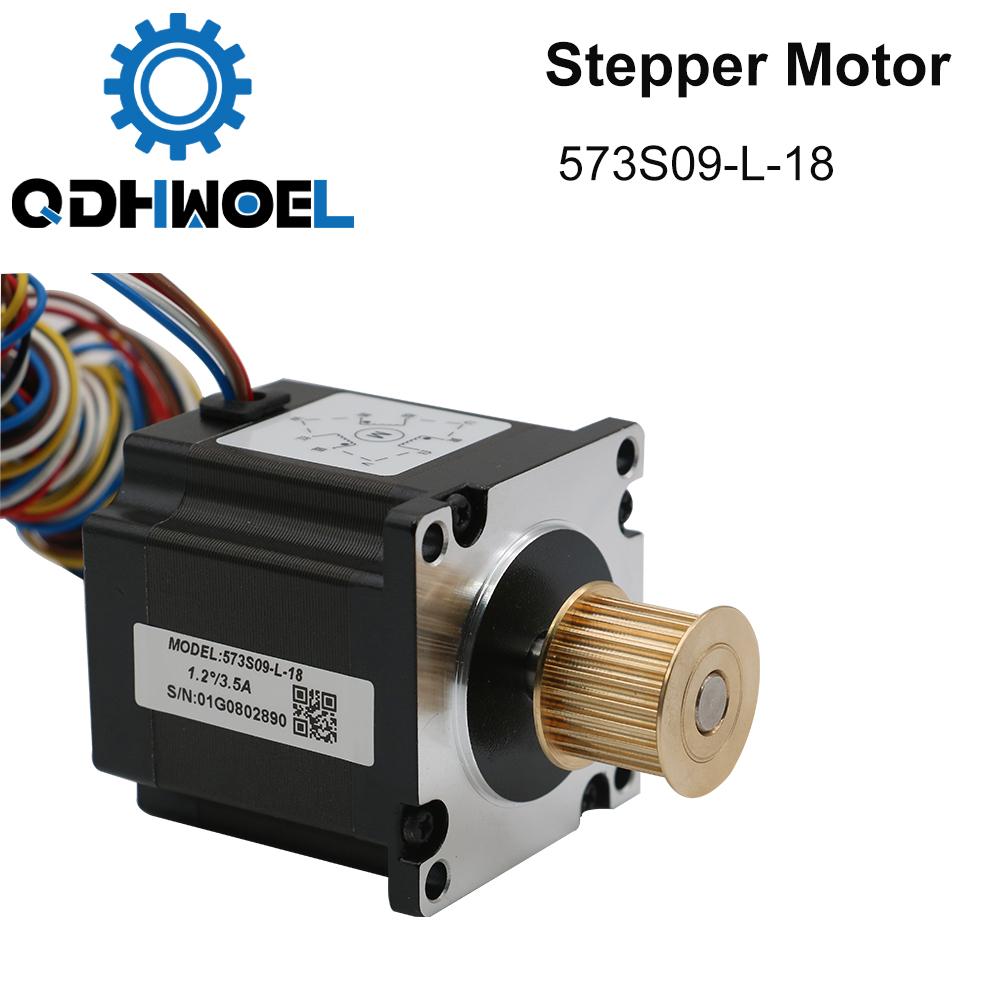 H65c2c6bde9094356895ca46eb8be6278N - QDHWOEL Leadshine 3 Phase Stepper Motor 573S09-L-18 for NEMA23 3.5A Length 50mm Shaft 6.35mm