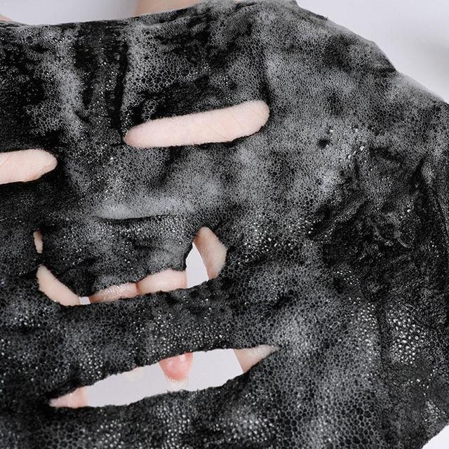 Korean Cosmetic Detox Oxygen Bubble Sheet Mask Moisturizing Black Whitening Charcoal Skin Face Mask Care Bamboo B1Q6