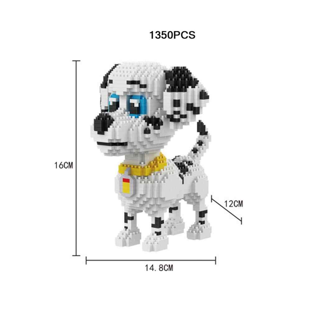 hot LegoINGlys creators animals Spotted dog pets Dalmatian puppy mini micro diamond building blocks model bricks toys for gifts