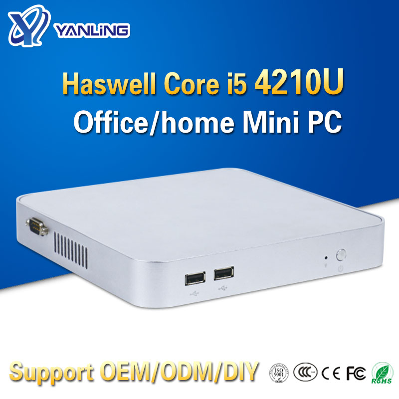 Yanling Cheap Personal Computer Intel Haswell I5 4210u Dual Core 1.7GHz Htpc Mini-pc Support HD Graphics Card For Windows 10
