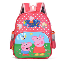 Peppa pig toys pepa pig action figure kids bag school cute knapsack Canine backpack toys peppa pig birthday gift
