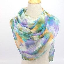 hot wonderful flower long soft scarfs wrap shawl for elegant women han edition