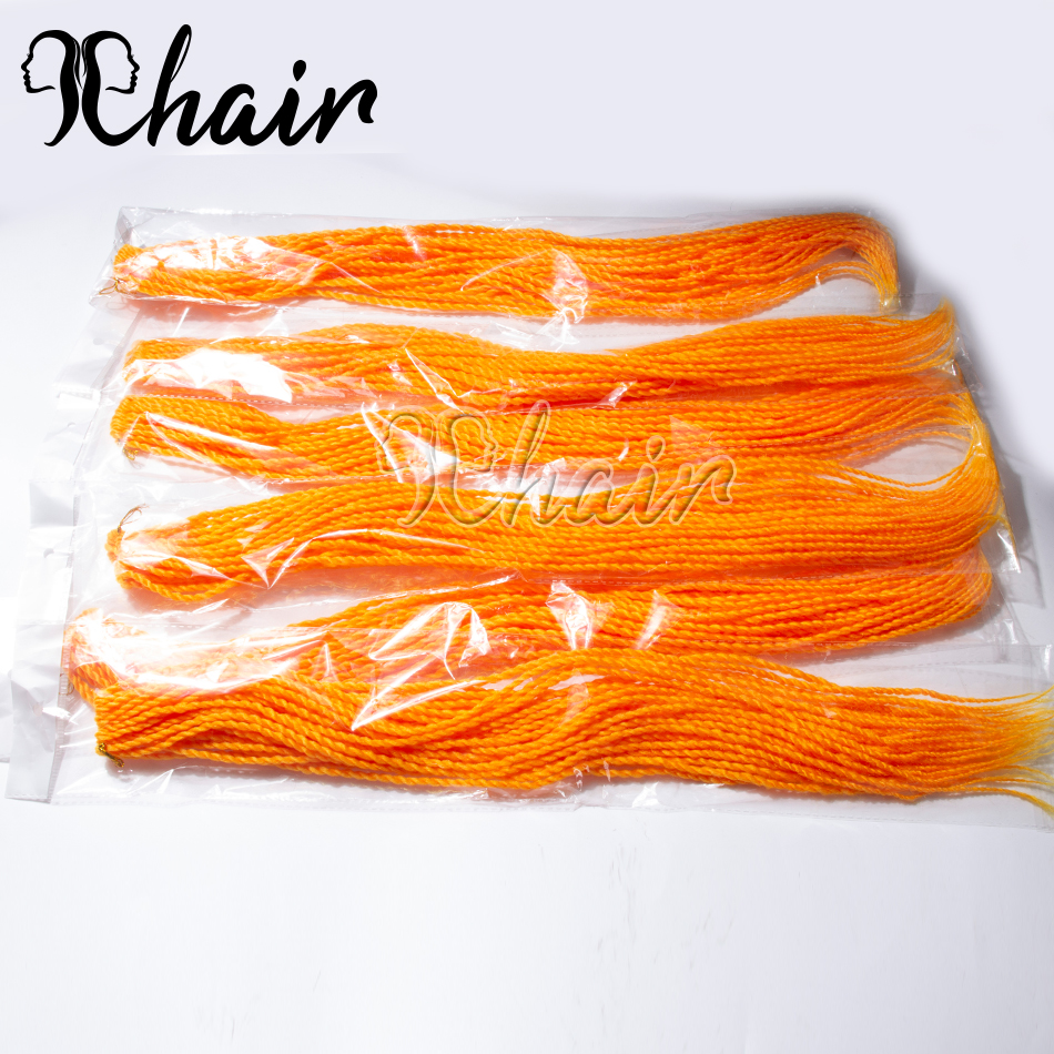 Qp Hair 24inch 30Roots/Pack Crotchet Braids 120 Colors Synthetic Senegalese Twist Braiding Hair Crochet Hair Extensions