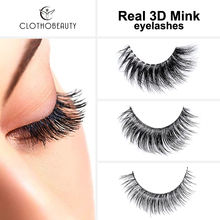 CLOTHOBEAUTY false eyelashes mink eyelashes 3d mink lashes natural handmade Reusable for makeup