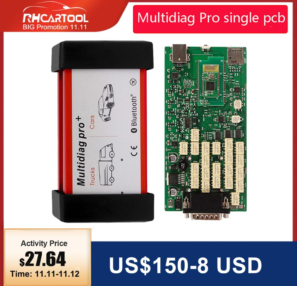 OBD2 Car Diagnostic Multidiag Pro Bluetooth Diagnostic Tool new vd pro plus OBDII OBD2 Scanner 2015 R3 2016 r1 Keygen Version