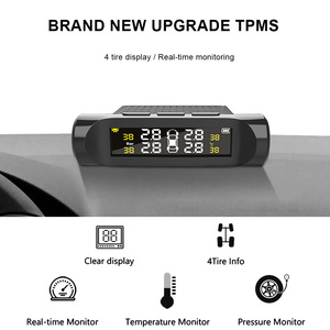 Image 2 - Car TPMS Tyre Pressure Monitoring System Digital LCD Display Auto Security Alarm Systems Battery Tyre Pressure Automobile Parts