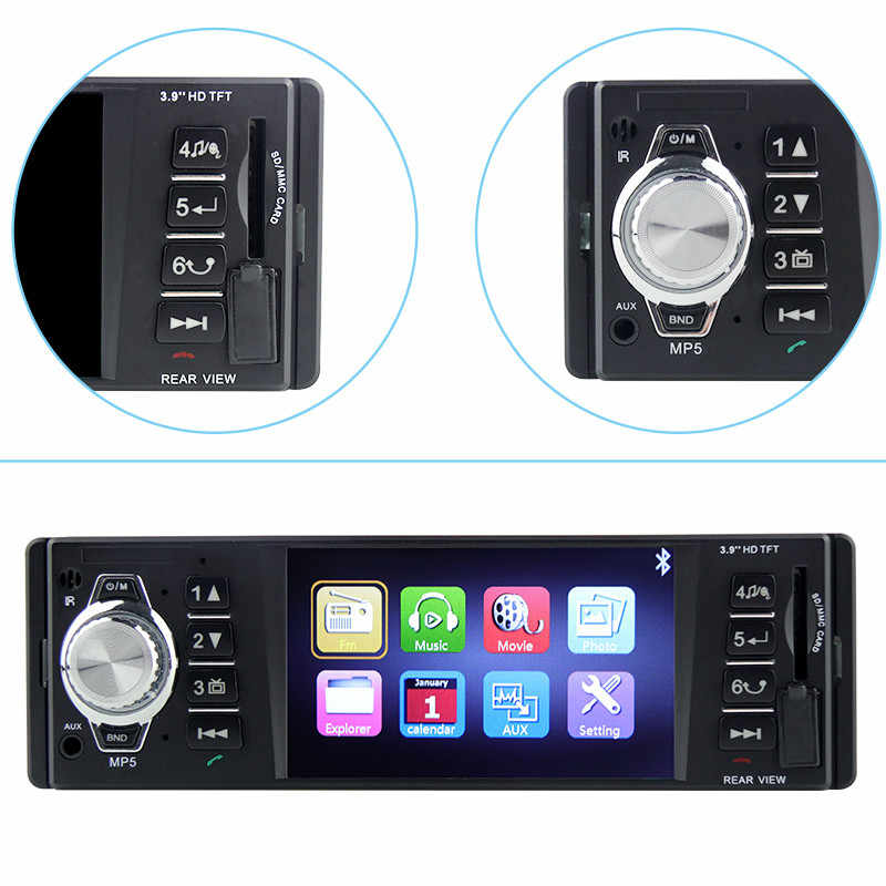 Car Radio Coche 1 din 4018B  Audio Auto   Stereo FM Bluetooth 2.0 Rear View Camera oto teypleri Subwoofer Radios