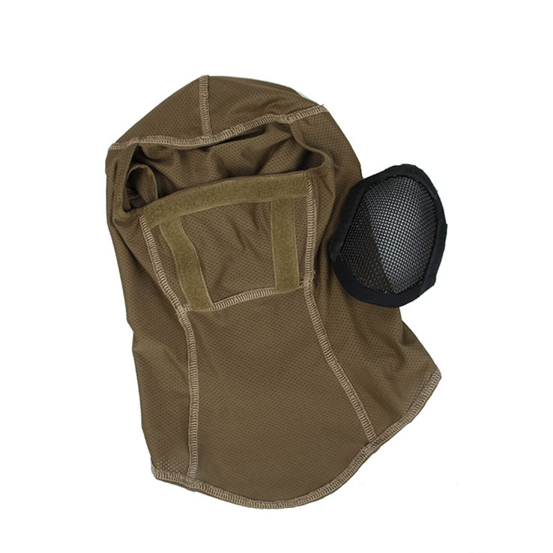 H65c3ac2645c54e228cbdf7f1309e4babq TMC3267 CS Tactical Camo Head Cover Metal Mesh Balaclava Full FaceMask Sunscreen Dust-proof Full-wrapped Headscarf Free Shipping