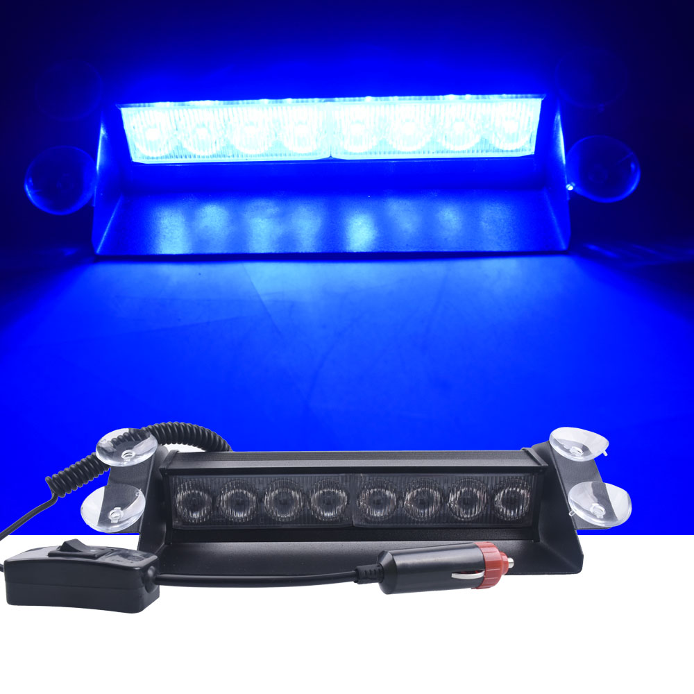 12 в пост. Тока, светодиодный стробоскоп с 8 режимами работы для автомобилей, мотоциклов и грузовиков