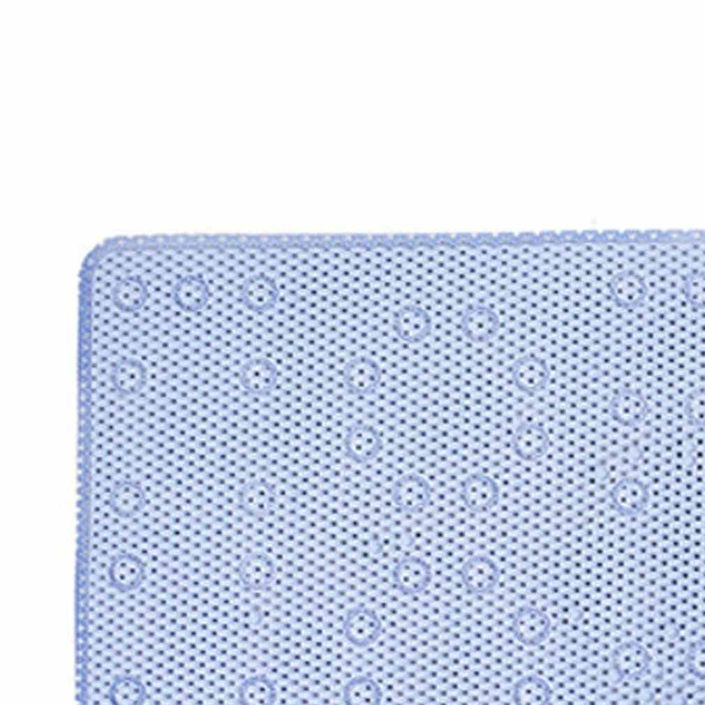 Alta qualidade pvc espuma cinto ventosa tapete do banheiro permeável tapete de chuveiro decoração para casa lugar branco sólido anti deslizamento esteira de banho