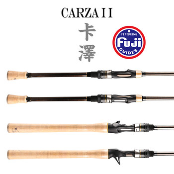 Japan Fuji carbon ML M power spinning rod 1.98m ultralight spinning wooden handle rods casting spinning fishing carbon rod china