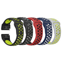 все цены на 26mm Easy Quick Fit Silicone Watch Bracelet strap Band for Garmin Fenix3 3HR 5X Plus Quatix 3 Replacement  Wristband Accessories онлайн
