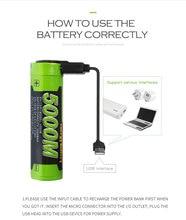 Batería de ordenador portátil 5000M USB 18650 3,7 V 3500mAh batería recargable de iones de litio 4 LED indicador de potencia banco de batería de carga móvil