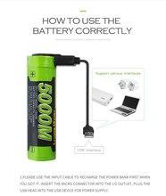 Batteria del computer portatile 5000M USB 18650 3.7V 3500mAh Li Ion Batteria Ricaricabile 4 LED Indicatore di batteria della banca di Potere Mobile ricarica batte