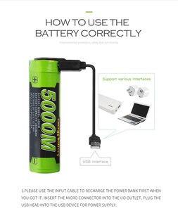 Image 1 - Laptop battery 5000M USB 18650 3.7V 3500mAh Li ion Rechargeable Battery 4 LED Indicator Power bank battery Mobile charging batte