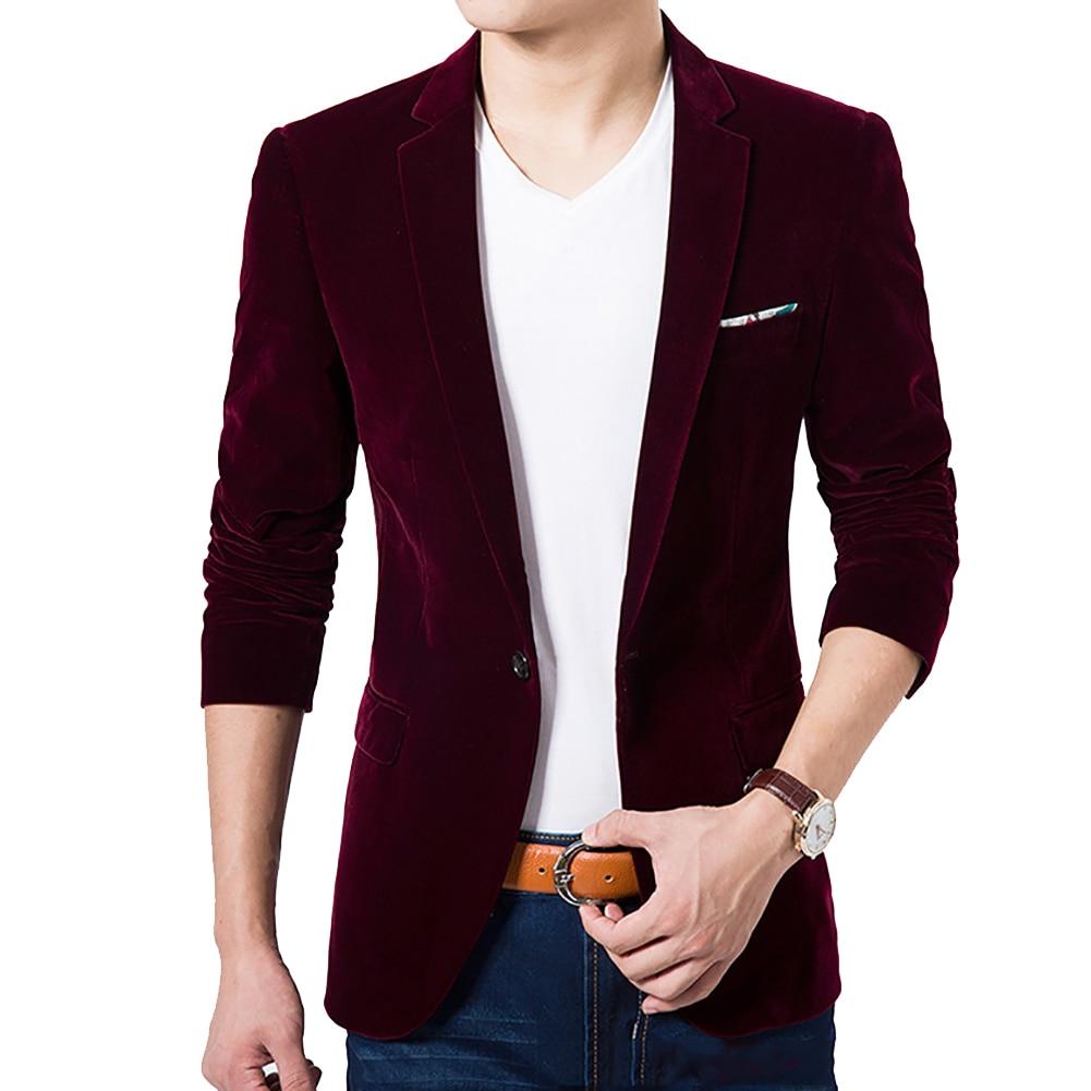 4XL Men's Long Sleeve Suit Jacket, Slim Design Blazer Men, Business Wedding Party Male Suitable Original Male Suits Coat Clothi