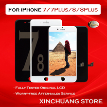 Qualidade original lcd para iphone 7 screen display com peças de reposição de toque 3d com ferramentas sem pixel morto para 5 7 plus 8 plus