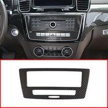 Acessórios do carro interior controle central modo de voz botão painel decoração proteção guarnição para mercedes benz gle gls 2012-2019