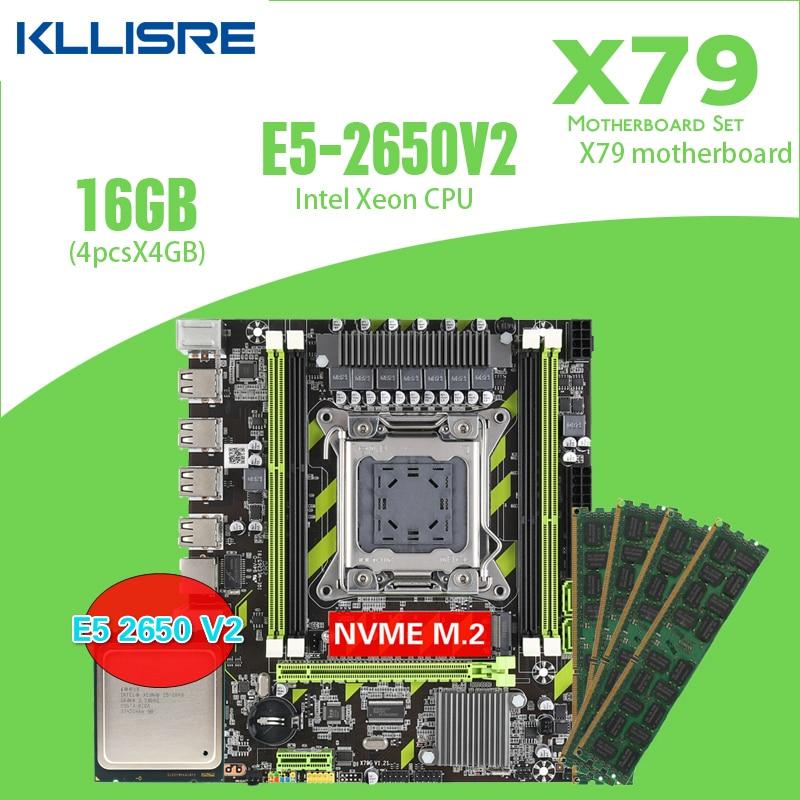 Kllisre X79 X79G материнская плата комбо LGA2011 E5 2650 V2 Процессор 4*4 Гб памяти DDR3 1333 кода коррекции ошибок Оперативная память|Материнские платы| | АлиЭкспресс