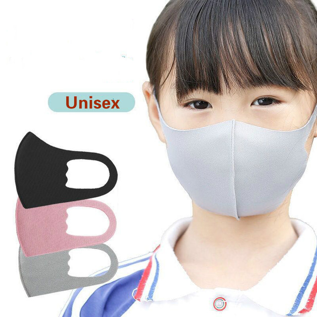 5PCS Cartoon Child Face Mask For baby Kids Anti  Dustproof Smoke Pollution Mask with Ear loop Washable Respirator Mask 2
