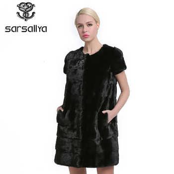 SARSALLYA 100% Real Mink Fur Vest Long Women Winter Fur Vest High Quality Mink Fur Coat winter real fur vest - DISCOUNT ITEM  43% OFF All Category