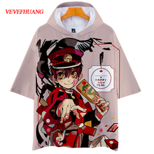 VEVEFHAUNG Jibaku Shounen Hanako Kun t shirt Cosplay kostüm kapşonlu ceket tişörtü Casual Streetwear Harajuku 3D Anime Toil