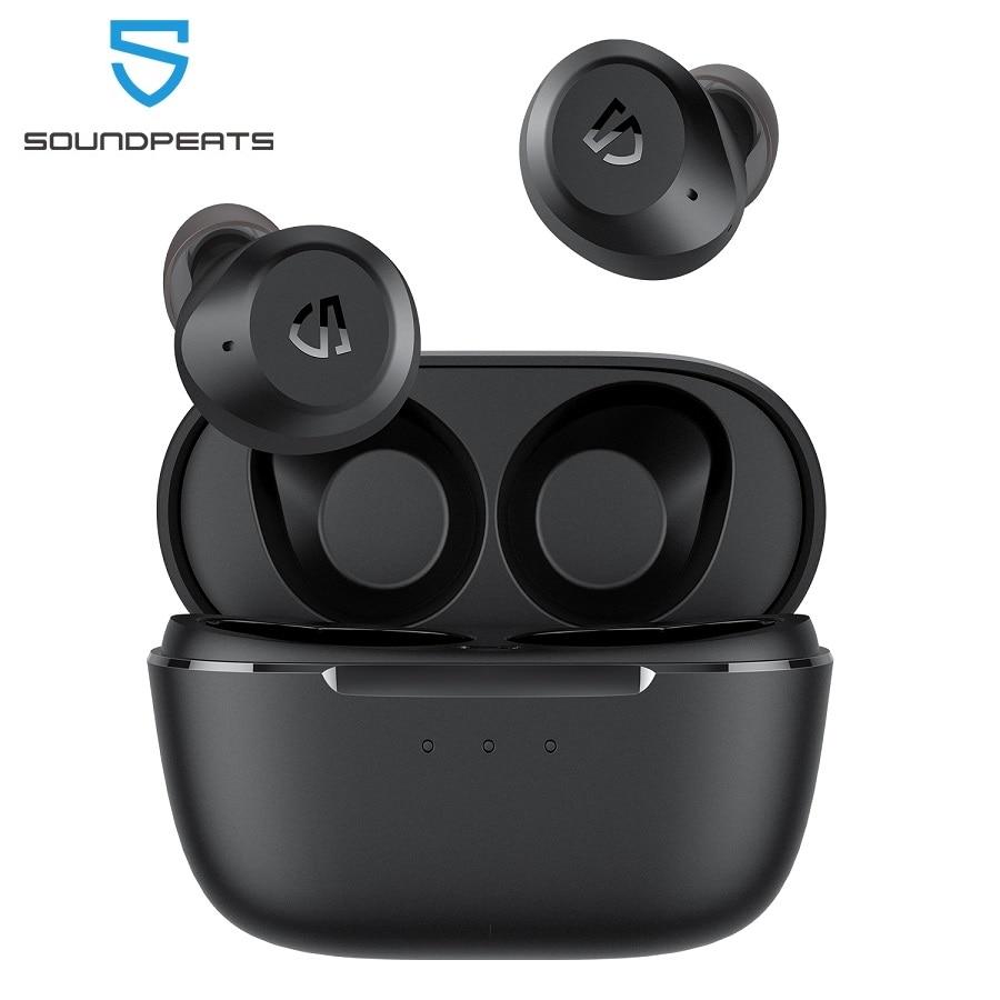 Беспроводные наушники SoundPEATS T2, ANC, шумоподавление, Bluetooth V5.1, режим прозрачности, с 12 мм большим динамическим Драйвером