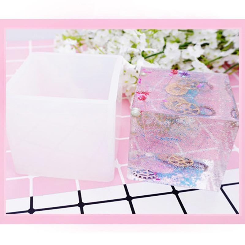 DIY Crystal Epoxy Cube Mould Hole-Polishing Handmade Products Gypsum Fragrance Clothing Dried Flower Mirror Decoration