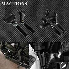 รถจักรยานยนต์ CNC เท้าผู้โดยสารด้านหลัง Footpegs MOUNT สีดำเหยียบสำหรับ Harley Sportster XL Iron 883 1200 72 48 2000 2018 2019