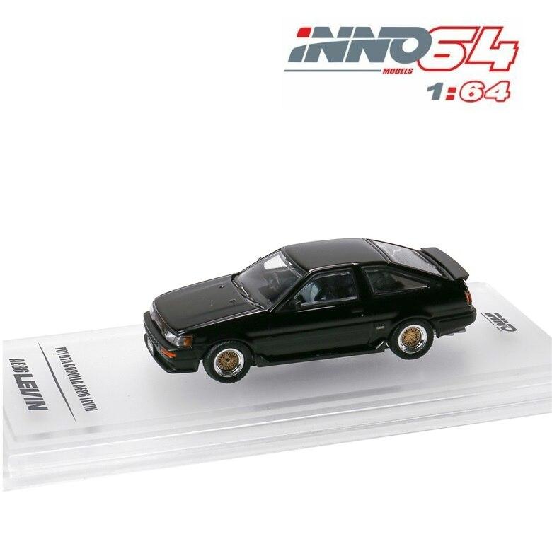 INNO64 1:64 Toyota Corolla Levin AE86 Black Die-cast Model Car