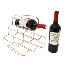Gold  Creative Geometric Wine Rack Metal Simple Household Grape Wine Rack Restaurant Living Room Bar Wine Cabinet Wine Display