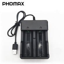 PHOMAX 18650 المزدوج فتحة LED الذكية عرض ضوء سريع تهمة 4.2V 22650 18490 18500 26500 IMR/ليثيوم أيون بطارية قابلة للشحن شاحن