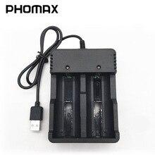Phomax 18650 Doppio Slot Intelligente a Led Luce Del Display di Carica Rapida 4.2V 22650 18490 18500 26500 Imr/Li Ion Ricaricabile caricabatteria