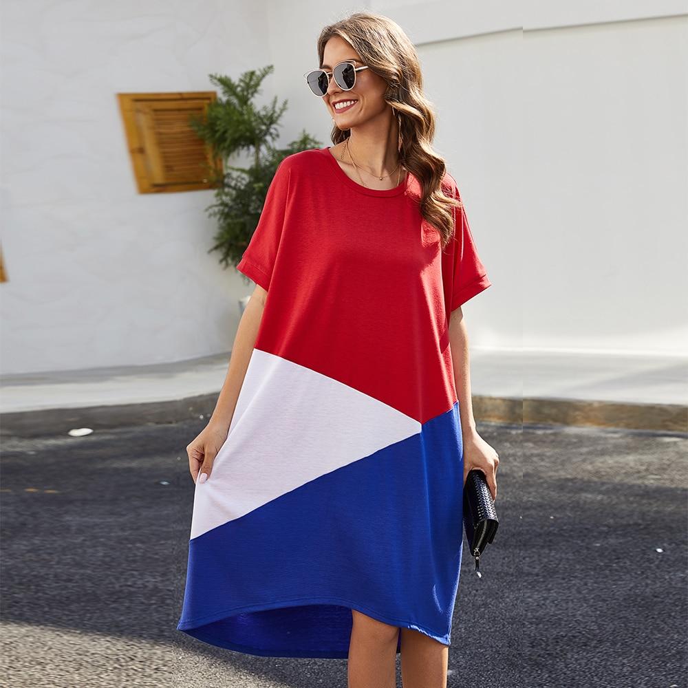 robe femme casual midi dress women festival spring plus size vestido  elegante 2020 sukienka mujer kleider damen streetwear ropa