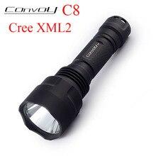 цена на Convoy C8 Cree XML2 U2 T6 LED Flashlight 7135*8 Linterna Tactical 18650 Torch Light Camping Tent Lanterna Bike Hand Flash Light