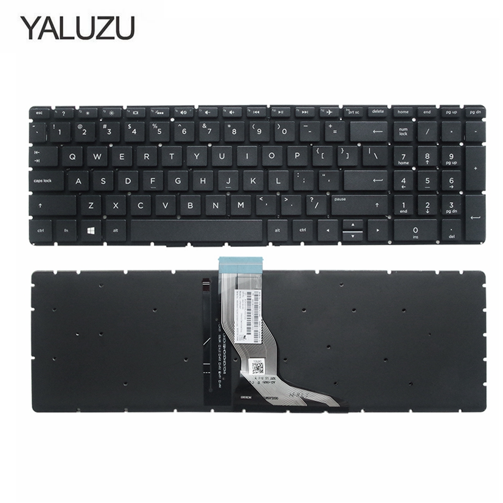YALUZU NEW FOR <font><b>HP</b></font> <font><b>250</b></font> <font><b>G6</b></font> 255 <font><b>G6</b></font> 15-BS 15T-BS 15-BW 15Z-BW 15-bs000 15-bs100 15-bs500 15-bs600 <font><b>Keyboard</b></font> US Black With Backlit image