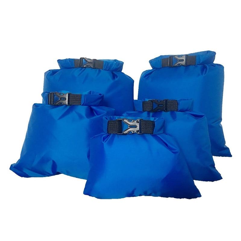 5 unids/set al aire libre impermeable bolso Camping Rafting de almacenamiento de bolsa con correa ajustable gancho