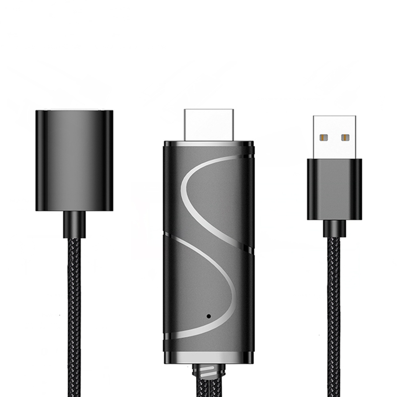 AMS-Display Dongle Cable 1080P USB To HDMI Cable Micro-USB/Type-C Interface SUPPORT 4K Compatible With Android And IOS
