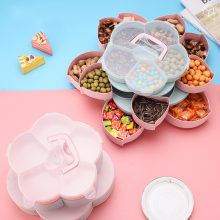 Organizer Box Storage-Case Candy-Tray Rotating-Snack Plastic Fruit-Plate Living-Room