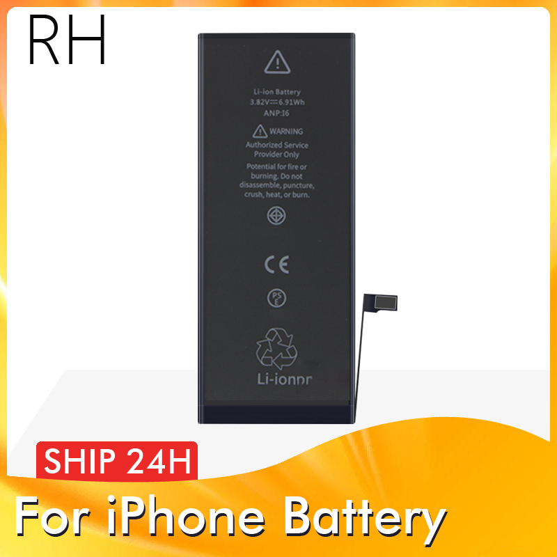 1 Piece Brand New AAAAA Quality Phone <font><b>Battery</b></font> for <font><b>iPhone</b></font> <font><b>6S</b></font> plus 6 7 8 <font><b>High</b></font> Real <font><b>Capacity</b></font> Zero Cycle Free Tool Sticker Case image
