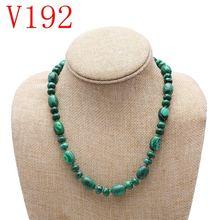 Ожерелье из натурального малахита модное ожерелье хрустальных