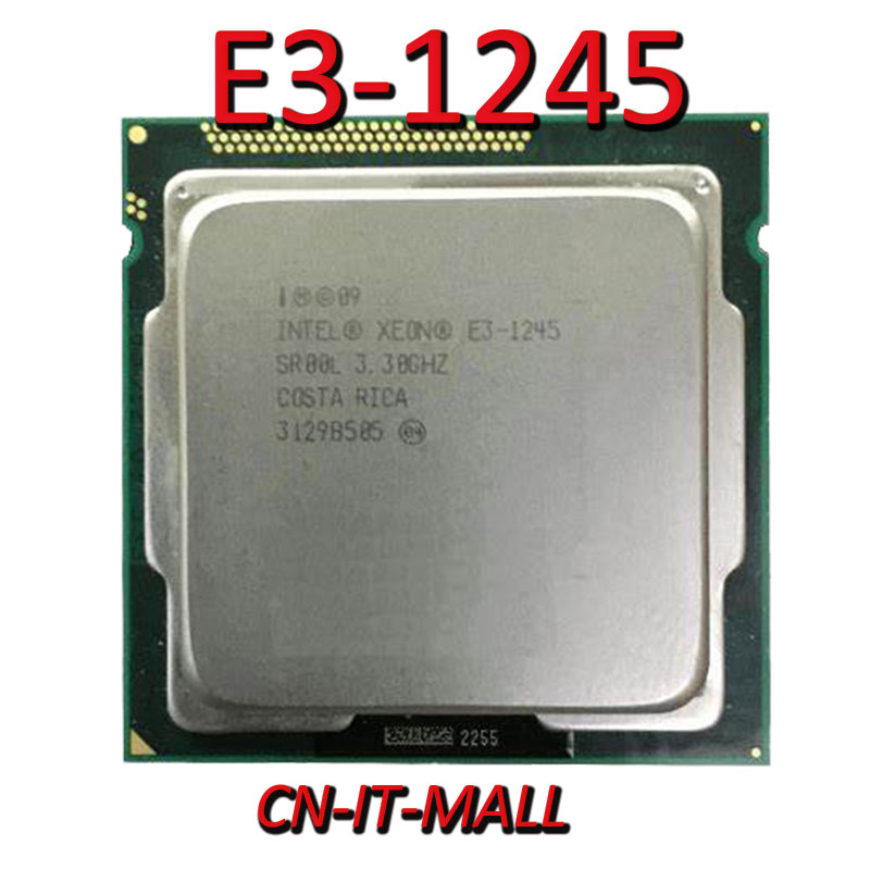 Intel Xeon E3-1245 CPU 3.3GHz 8M 4 Core 8 Threads LGA1155 Processor