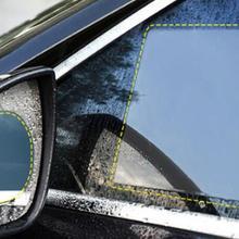 От DHL или FedEx, 100 комплектов, анти-туман, Автомобильное Зеркало, окно, прозрачная пленка, автомобильная зеркальная защитная пленка заднего вида, водонепроницаемая, непромокаемая