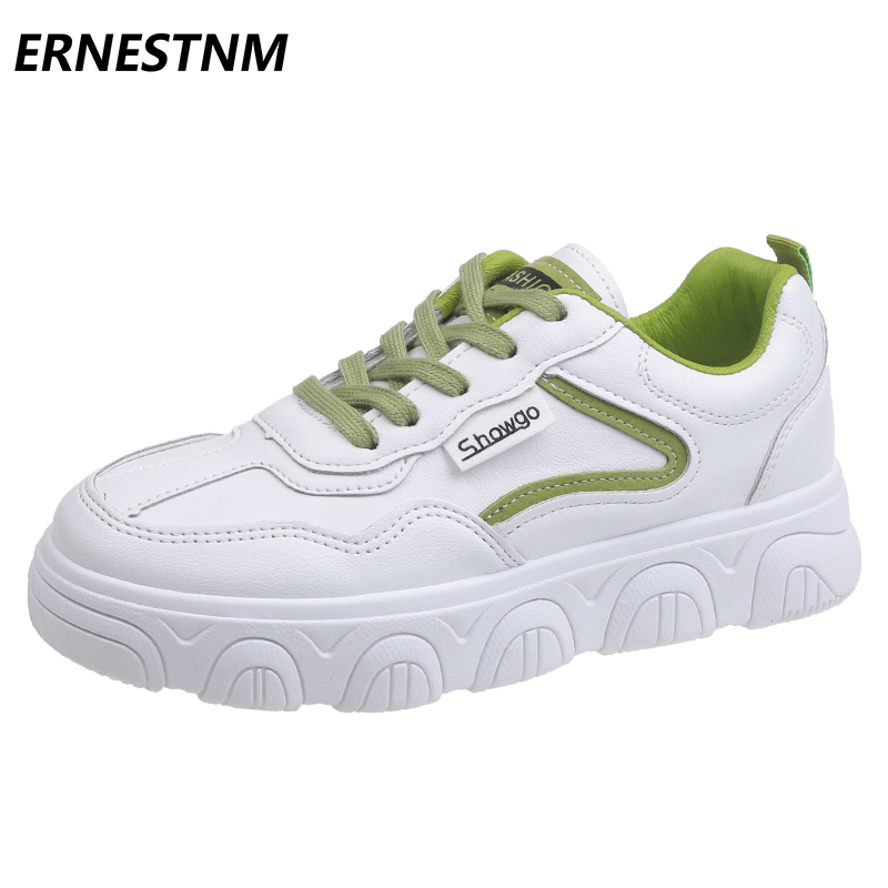 ERNESTNM 2020 New Wedge Sneakers White Women Shoes Casual Canvas Shoes Zapatos De Mujer Lace-up Sneakers Women Ladies Shoes